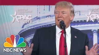 Trump at CPAC: Schools' Gun-Free Designation Puts Students 'In Far More Danger' | NBC News - NBCNEWS