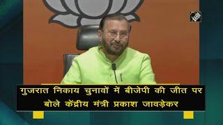 video : Gujarat Municipal Polls में BJP ने 80 फीसदी सीटें जीती हैं - Javadekar