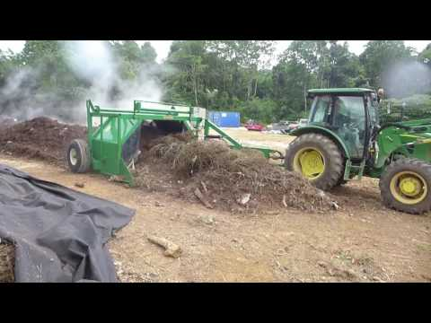 Large scale compost turning