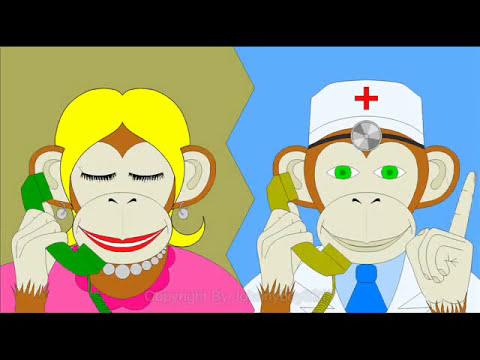 5 little monkeys jumping on the bed  song barney children doctor playlist lyrics nursery rhyme