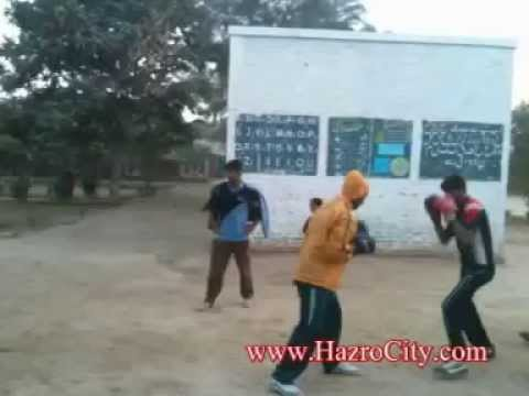 Boxing Practice in Govt Middle School, Chak 2310/R Kacha Khou