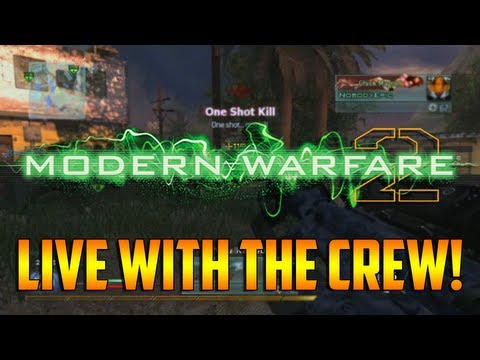 MW2 - Live with the Crew! (MW2 Live Search and Destroy Gameplay with the Crew)