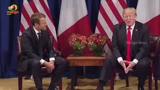 President Trump Participates In an Expanded Meeting with President Emmanuel Macron of France - MANGONEWS