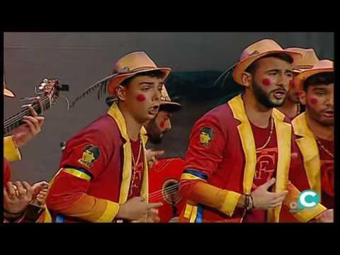 Sesión de Cuartos de final, la agrupación Qué corgaera actúa hoy en la modalidad de Comparsas.