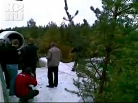 Ту-154 приземлился в тайге