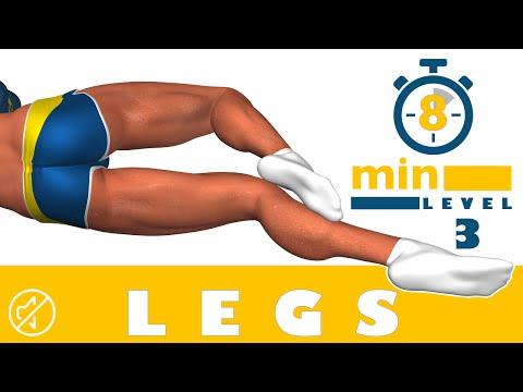 8 dakikada bacak egzersizi - 3. Düzey - No Music