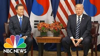 Watch President Donald Trump React To South Korean President Moon's Use Of 'Deplorable' | NBC News - NBCNEWS