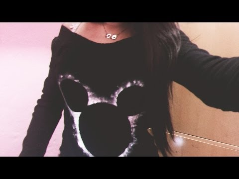 Customizando blusa/moletom : Estampa do mickey |