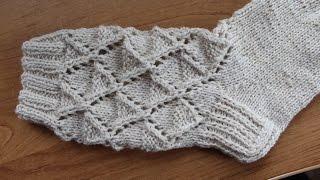Вязание кружевных носков 3