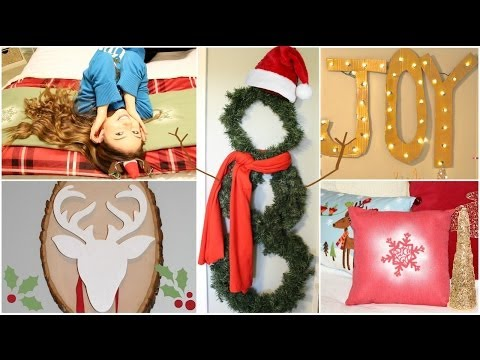 9 DIY Holiday/Winter Room Decorations + Gift Ideas!