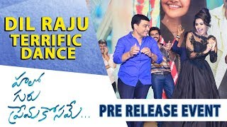 Dil Raju Terrific Dance - Hello Guru Prema Kosame Pre-Release Event - Ram Pothineni, Anupama - DILRAJU