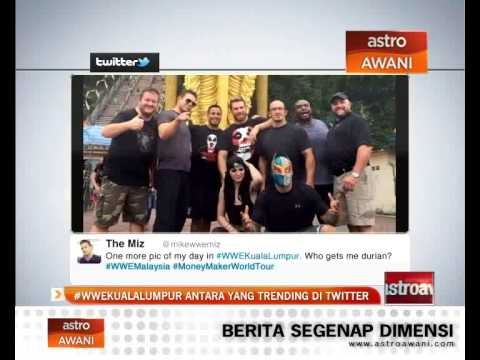 #WWEKuala Lumpur antara yang trending di Twitter