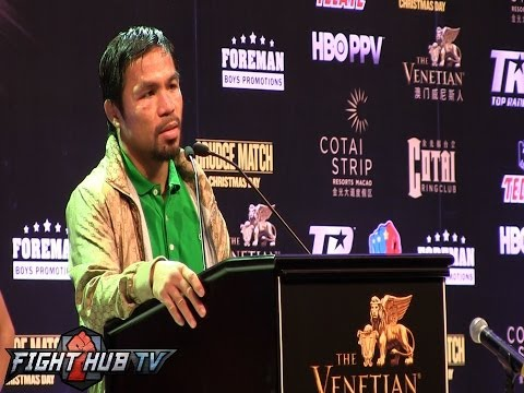 Manny Pacquiao vs. Brandon Rios full post fight press conference video full HD