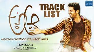 A Aa Movie Songs Track List | Nithiin | Samantha | Trivikram | Mickey J Meyer | TFPC - TFPC