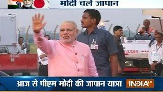 PM Narendra Modi leaves for Japan - INDIATV