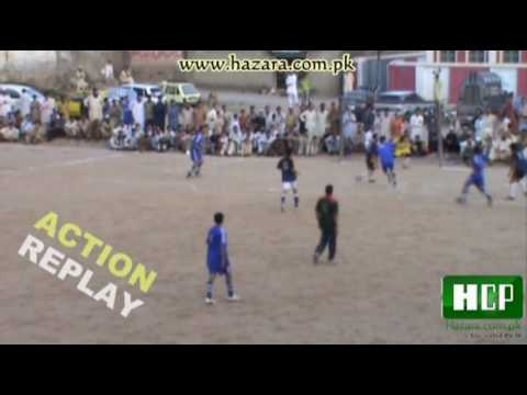 Kohistan Eleven Vs Mujahid Eleven Soccer Tournament Police Ground Mansehra Hazara (1st Semi Final)