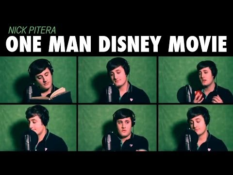 &quot;One Man Disney Movie&quot; Nick Pitera Disney Medley Music Video