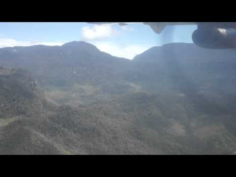 Full Approach and landing, Wamena Airport, Trigana Air Service, ATR-42, Papua