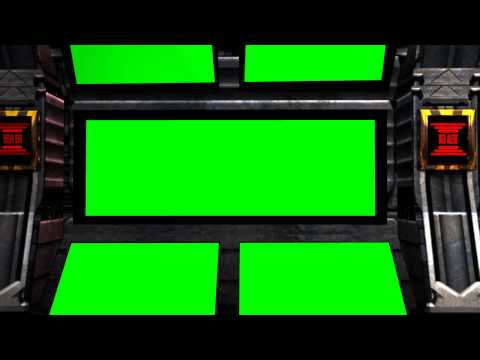 greenscreen Spaceship Background with red Alert and Sound - green screen effects