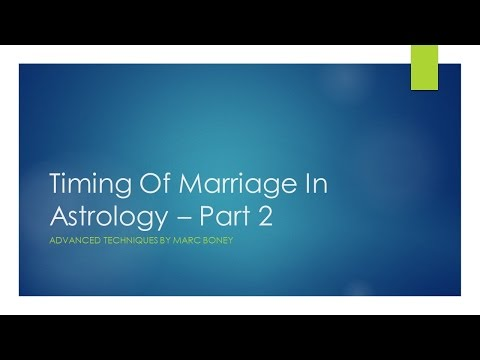 Timing of Marriage In Astrology -  Part 2