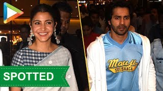 SPOTTED: Varun Dhawan & Anushka Sharma return from Sui Dhaaga promotions in Kolkata - HUNGAMA