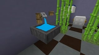 Как прокачать ванную комнату в MINECRAFT! Кран, сушилка для рук, раковина