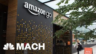 The Future Of Shopping? Amazon Opens First Grocery Store | Mach | NBC News - NBCNEWS