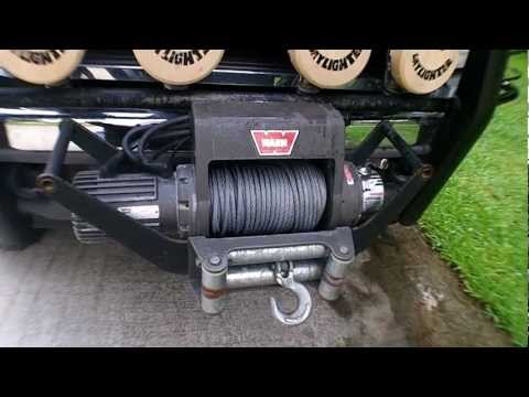 Warn Winch installed in Cradle Mount front or rear mount