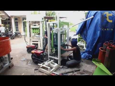 Video Mesin Batako Paving Vibrator