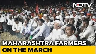 "Second Time In A Year Farmers March Protesting Government's ""Betrayal"" - NDTV"