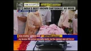 Massive outpouring of grief on passing of RK Laxman - NEWSXLIVE