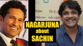 Nagarjuna about Sachin Tendulkar || Sachin A Billion Dreams || #SachinTendulkar - IGTELUGU