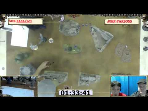 Warhammer 40k Battle Report 004: Chaos Mirror Nanavati vs Parsons, Adepticon Prep Tournament Round 2