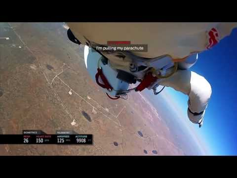 INSPIRATIONAL - Felix Baumgartner - Headcam footage space Jump!! FULL