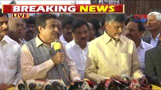 Union Minister Nitin Gadkari Speech on Polavaram Works | CVR News - CVRNEWSOFFICIAL