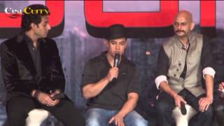 Aamir Khan, Abhishek Bachchan, Uday Chopra & Katrina Kaif at Dhoom 3 Press Conference - THECINECURRY