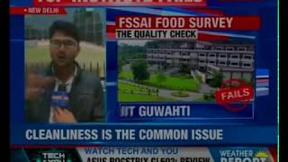 Top 12 institutes fail FSSAI's food test; survey conducted in 12 central government institutes - NEWSXLIVE