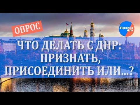 Опрос: что делать России с ДНР?