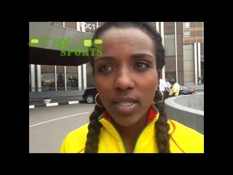 EthioTube interview with 10,000m gold medalist Tirunesh Dibaba of Team Ethiopia | August 13, 2013