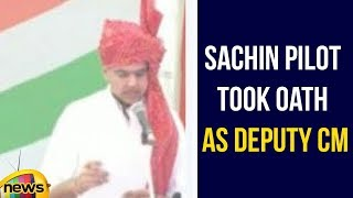 Sachin Pilot took oath as Deputy CM | Sachin Pilot Latest News | Congress Leaders Swearing Ceremony - MANGONEWS