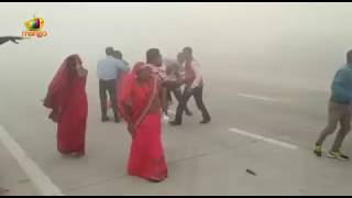 Cars Collide On Yamuna Highway Due To Dense Fog In Delhi | Mango News - MANGONEWS