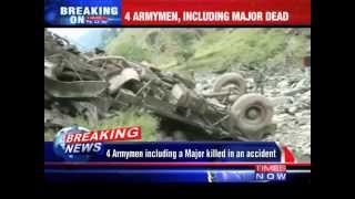 4 Army men including a Major killed in an accident in Kupwara District - TIMESNOWONLINE