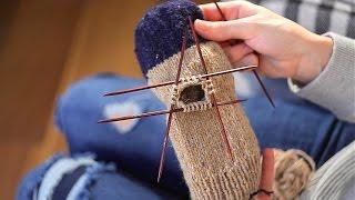 Как вязать спицами ОСНОВЫ РУКАВИЧКИ | МанифТВ варежки