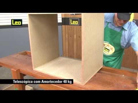 Corrediça Telescópica Total com amortecedor até 40kg