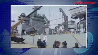 भारतीय नौसेना का एक जहाज राहत सामग्री के साथ आज कोलंबो पंहुचा