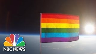 First Pride Flag Launched Into Stratosphere Via High-Altitude Balloon | NBC News - NBCNEWS