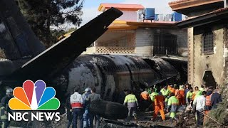 15 Dead After Iranian Cargo Plane Crashes On Mistaken Airfield | NBC News - NBCNEWS