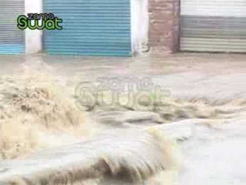 Flood in Swat Mingora Stream.flv