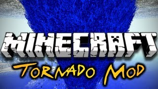 Minecraft Tornado Mod - CRAZY WEATHER, SIRENS, FLYING BLOCKS! (HD)