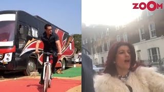 Salman Khan cycles around the sets of Bharat | Twinkle Khanna catches the Gully Boy fever - ZOOMDEKHO
